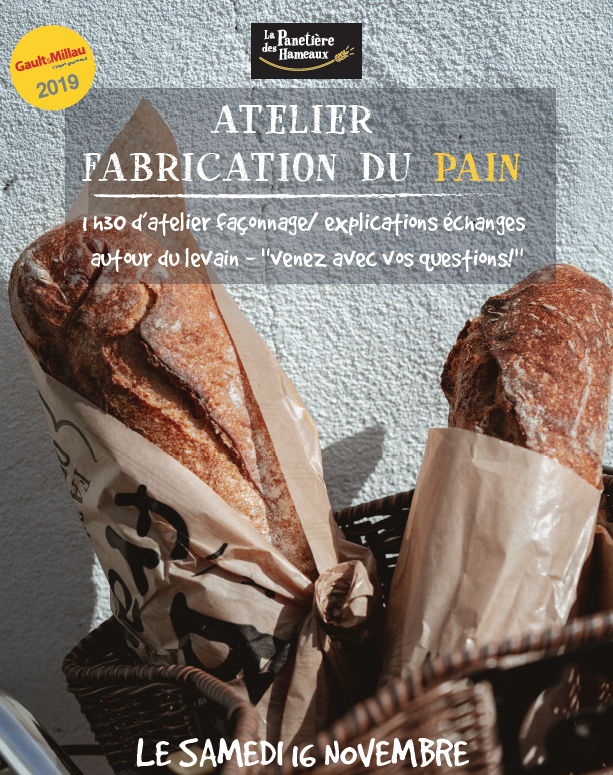 affiche atelier fabrication pain